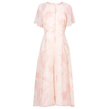 Buy L.K. Bennett Montez Fluid Midi Dress, Blush Online at johnlewis.com