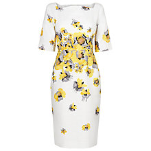 Buy L.K. Bennett Lasana Floral Degrade Dress, White/Yellow Online at johnlewis.com