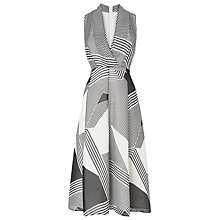 Buy L.K. Bennett Natasha Dress, Black/White Online at johnlewis.com