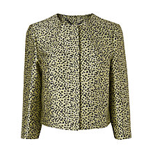 Buy L.K. Bennett Gina Snap Front Jacket, Yellow Online at johnlewis.com