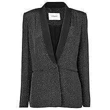 Buy L.K. Bennett Amelie Silk Blazer, Black/White Online at johnlewis.com