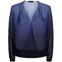 Buy Jaeger Silk Dip Dye Blouse, Blue Online at johnlewis.com