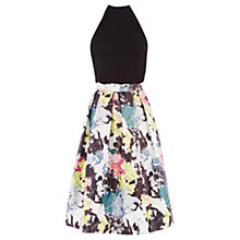 Buy Warehouse Statement Floral Midi Dress, Multi Online at johnlewis.com