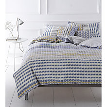 Buy Margo Selby for John Lewis Dogstar Bedding, Blue/Natural Online at johnlewis.com