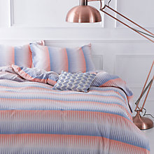 Buy Margo Selby for John Lewis Blaze Bedding, Blue/Red Online at johnlewis.com