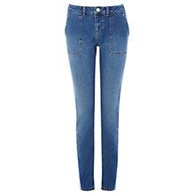 Buy Warehouse Straight Leg Jeans, Mid Wash Denim Online at johnlewis.com
