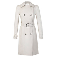 Buy Miss Selfridge Structured Trench Coat, Stone Online at johnlewis.com