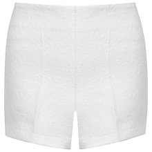 Buy Miss Selfridge Jacquard Shorts, White Online at johnlewis.com