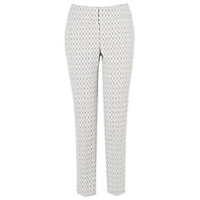 Buy Phase Eight Erica Oval Trousers, Silver/Ivory Online at johnlewis.com