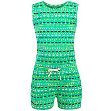 Buy John Lewis Girl Playsuit, Green Online at johnlewis.com