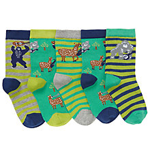 Buy John Lewis Children's Musical Forest Socks, Pack of 5 Online at johnlewis.com