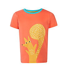 Buy Donna Wilson for John Lewis Happy Squirrel T-Shirt, Coral Online at johnlewis.com