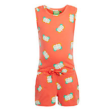 Buy John Lewis Girl Butterfly Playsuit, Coral Online at johnlewis.com