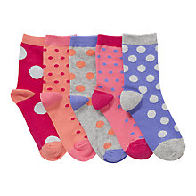 Buy John Lewis Girl Spot Socks, Pink/Purple Online at johnlewis.com