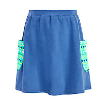 Buy John Lewis Girl Flip Skirt With Patch Pocket, Blue Online at johnlewis.com