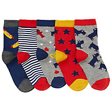 Buy John Lewis Children's New York Socks, Pack of 5 Online at johnlewis.com
