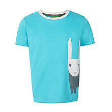 Buy Donna Wilson for John Lewis Rabbit Print T-Shirt, Turquoise Online at johnlewis.com