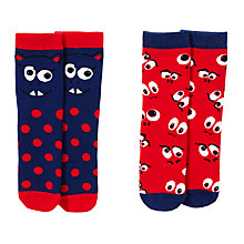 Buy John Lewis Boy Thermal Monster Socks, Pack of 2, Multi Online at johnlewis.com