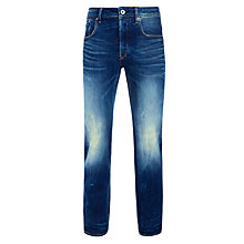 Buy G-Star Raw Straight Vant Stretch Jeans, Dark Aged Online at johnlewis.com