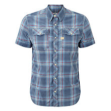 Buy G-Star Raw Landoh Check Short Sleeve Shirt, Blue Check Online at johnlewis.com