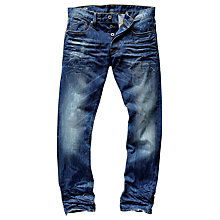 Buy G-Star Stean Wisk Denim Tapered Jeans, Dark Aged Blue Online at johnlewis.com