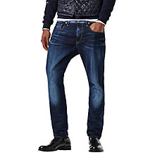 Buy G-Star Raw Hadron Denim Tapered Jeans, Dark Aged Blue Online at johnlewis.com