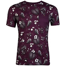 Buy Ted Baker Formala Floral Print T-Shirt, Dark Red Online at johnlewis.com