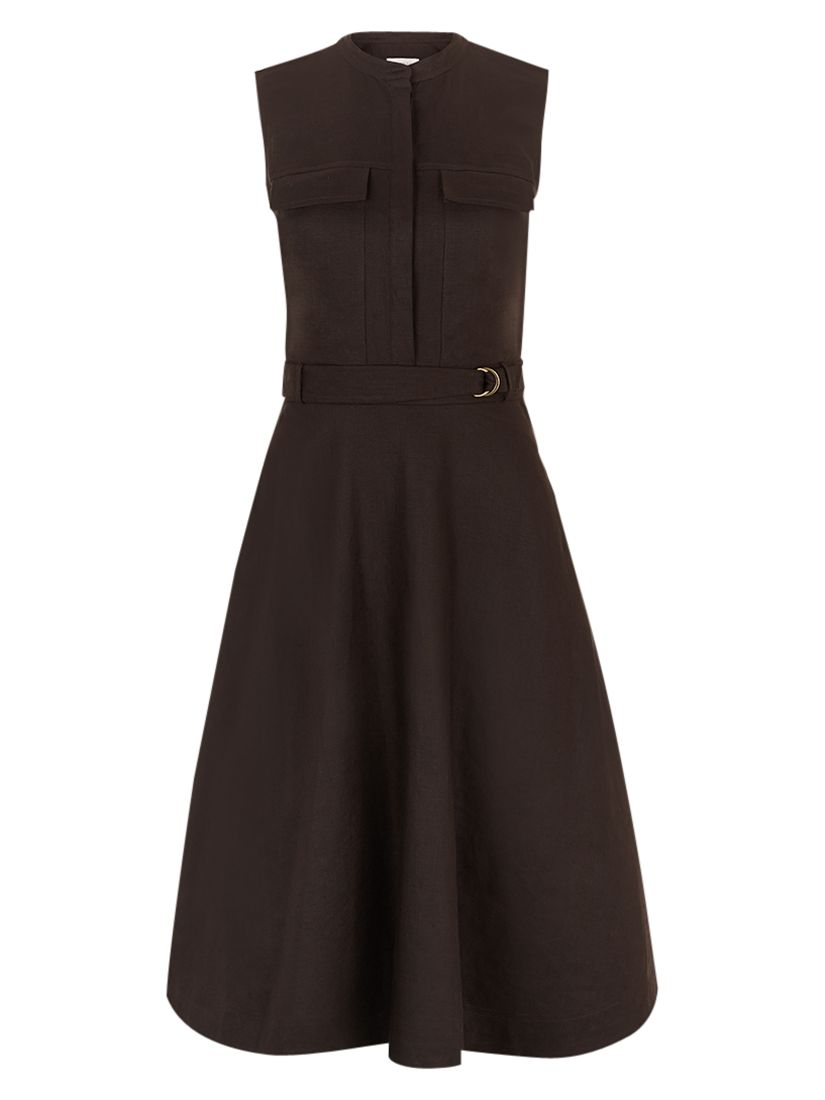 hobbs linen lora dress deep chocolate, hobbs, linen, lora, dress, deep, chocolate, 18|16|14|10|8|12|6, fashion magazine, women, brands a-k, womens dresses, womens holiday shop, 1889238