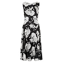 Buy Hobbs Silk Sora Dress, Black / Ivory Online at johnlewis.com