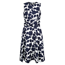 Buy Hobbs Linen Twitchill Dress, Navy/Ivory Online at johnlewis.com