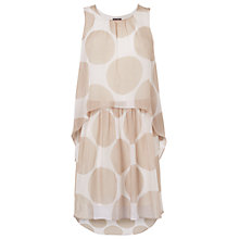 Buy Phase Eight Bobby Spotted Silk Dress, Ivory/Stone Online at johnlewis.com
