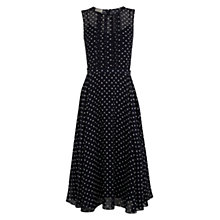 Buy Hobbs Silk Huxley Spot Dress, Navy/Ivory Online at johnlewis.com