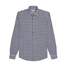 Buy Reiss Gladiator Contrast Check Shirt, Blue Online at johnlewis.com