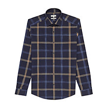 Buy Reiss Bandit Sketch Check Shirt, Navy Online at johnlewis.com