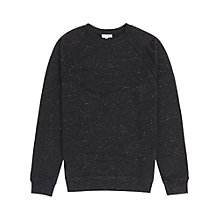 Buy Reiss Bellamy Flecked Sweatshirt, Black Marl Online at johnlewis.com