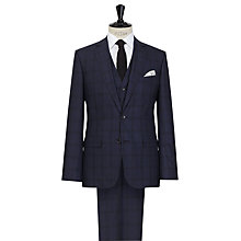 Buy Reiss Stryker 3 Piece Tonal Check Wool Suit, Navy Online at johnlewis.com