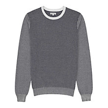 Buy Reiss Hoult Cotton Jumper, Navy Online at johnlewis.com