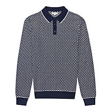 Buy Reiss Bruges Long Sleeve Polo Top, Navy Online at johnlewis.com