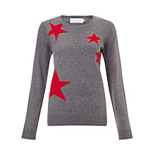 Buy Collection WEEKEND by John Lewis Falling Star Jumper, Grey/Red Online at johnlewis.com