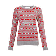 Buy Collection WEEKEND by John Lewis Stars And Stripes Jumper, Red/Grey Online at johnlewis.com