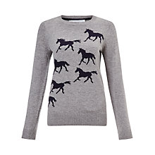 Buy Collection WEEKEND by John Lewis Wild Horse Jumper, Grey/Navy Online at johnlewis.com