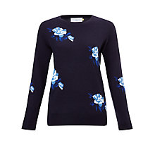 Buy Collection WEEKEND by John Lewis Rosebud Jumper, Blue Online at johnlewis.com