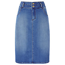 Buy Collection WEEKEND by John Lewis Denim Pencil Skirt, Mid Blue Online at johnlewis.com