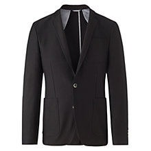 Buy Jigsaw Milano Cotton Blazer, Black Online at johnlewis.com
