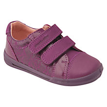 Buy Start-rite Flexy Soft Milan Leather Shoes, Berry Online at johnlewis.com