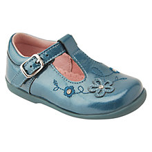 Buy Start-rite Patent Sunflower Shoes, Teal Online at johnlewis.com