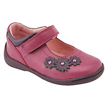 Buy Start-rite Super Soft Daisy Leather Shoes, Berry Online at johnlewis.com