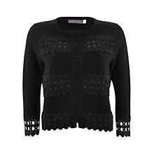 Buy Mint Velvet Blocked Lace Cardigan, Black Online at johnlewis.com