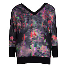 Buy Ted Baker Tamela Holographic Halftone Jumper, Multi Online at johnlewis.com