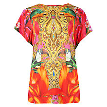 Buy Ted Baker Paisley Toucan T-Shirt, Multi Online at johnlewis.com